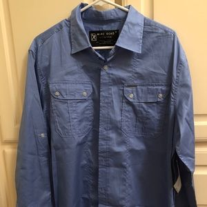 Marc Ecko Cut & Sew Light Blue Shirt- Large